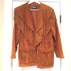 SALE Western / Boho Fringed Vintage Leather Jacket